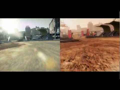 DiRT 3 vs. DiRT 2 - Shibuya side-by-side comparison