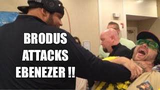 BRODUS CLAY Attacks EBENEZER! Legends of the Ring Convention 9/20/2014 Grims Toy Show
