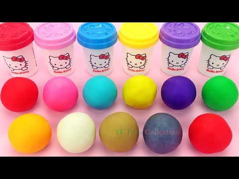 Learn Colors Hello Kitty Play Dough with Elmo Ice Cream Popsicles and Surprie Toys PJ Masks