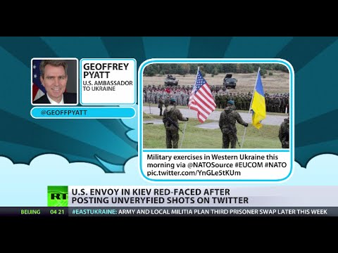 US Envoy in Kiev red-faced after posting unverified shots on Twitter