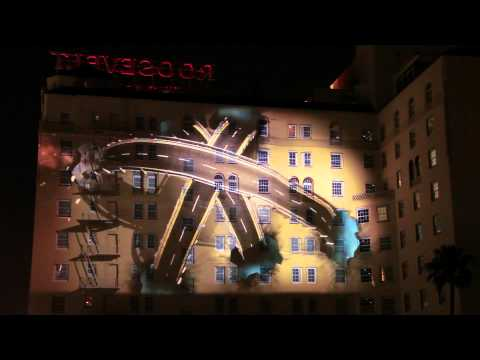 Lexus CT 3D Art Projection on Earth Night