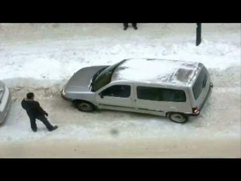Plankan - Halt på parkeringen, hur kommer man loss med bilen?