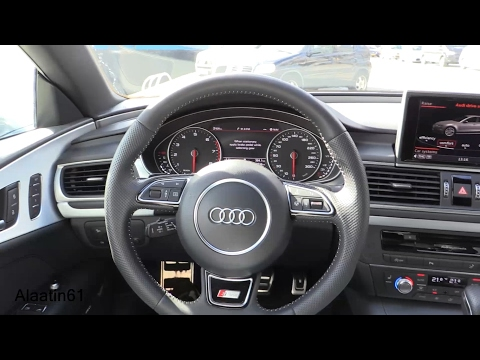 Audi A7 Sportback 2017 interior Review. Test Drive
