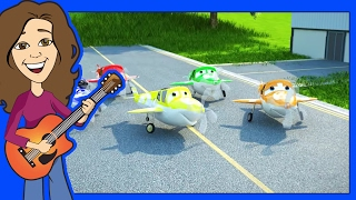 Counting song 5 Little Airplanes for children, kids, kindergarten and toddlers | Patty Shukla
