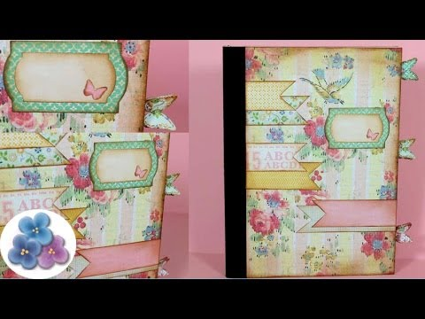 Como hacer cuadernos school book covers diy como decorar - Como hacer un album scrapbook ...