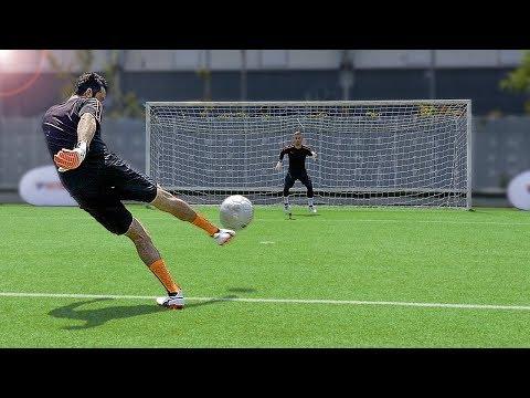 freekickerz vs Buffon - Ultimate Football Challenges