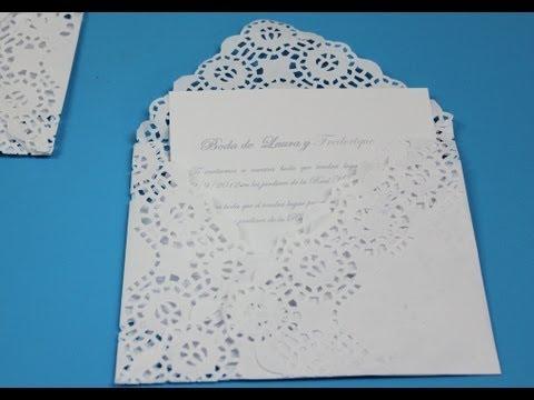Invitacion elegante. Doily envelope