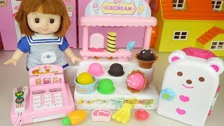 Baby doll and Ice cream shop Baby Doli mart cash register play