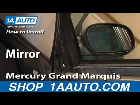 How To Install Replace Side Rear View Mirror Mercury Grand Marquis 98-11 1AAuto.com