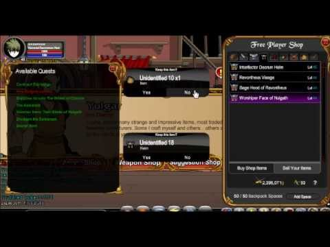 aqw load shop quest