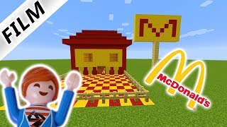 JULIAN BAUT MCDONALD'S IN MINECRAFT! Playmobil Film Deutsch - Familie Vogel