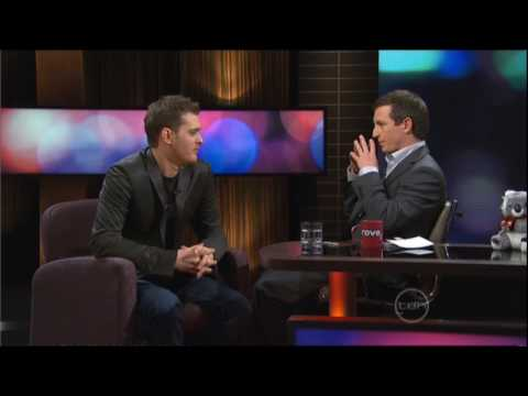 Michael Buble & Rove - The bromance (plus Seth Rogen & Paul Rudd exchange water/spit)