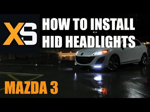DIY HID Xenon Install: Mazda 3 2003-2009