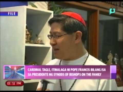 Car. Tagle, itinalaga ni Pope Francis bilang isa sa presidente ng Synods of Bishops on the Family