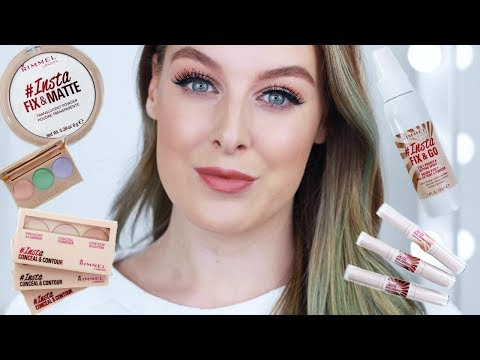 NEW RIMMEL #INSTA MAKEUP COLLECTION   FIRST IMPRESSIONS + REVIEW