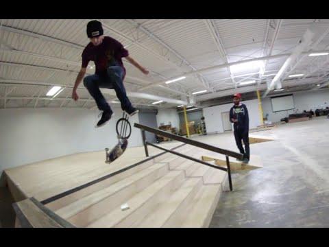 Kickflip 5 Stair On a Mini Board!?