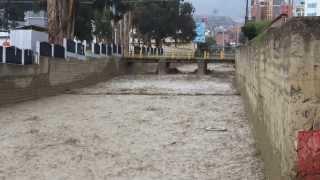Desborde de río en La Paz