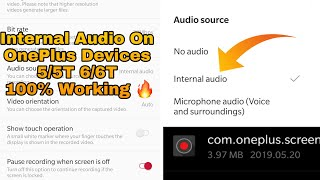 How To Record Internal Audio On Android May 2019 😍 | No Root | No PC | No Headphone 🔥OnLy OnePlus.