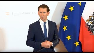 LIVE: Austrian Chancellor Kurz delivers statement amid ongoing political scandal