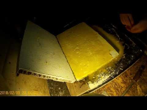Своя вощина №4 Первая матрица комом. Низкая адгезия силикон на силикон.