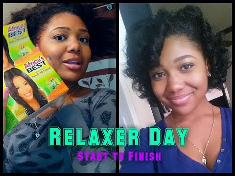 Relaxer Day   16 Weeks Post   ROLLER SET Curls Using LottaBody