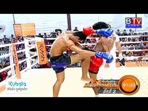 Khmer Boxing, Chan Chhaymao Vs Phann Chomnan , BTV Boxing, 20 September 2015