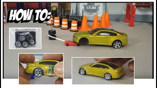 How to Lower the Stance on Hot Wheels (V1)
