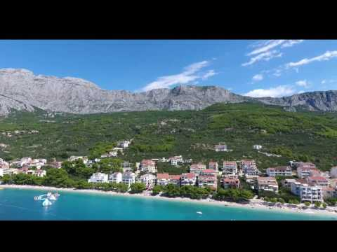 TUČEPI-best place for rest in Croatia.Video bird's-eye view aerial survey