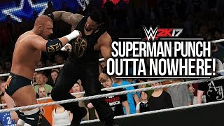 WWE 2K17: Roman Reigns' Superman Punch OMG! (Entrance, Signatures & Finishers)