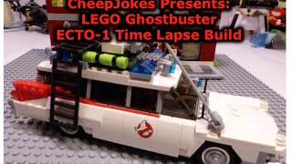 LEGO Ghostbuster ECTO-1 Time Lapse Build by Cheep Jokes - LEGO Stop Motion Video