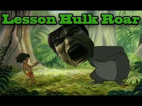 Baloo Teaching Mowgli how to Roar like Hulk