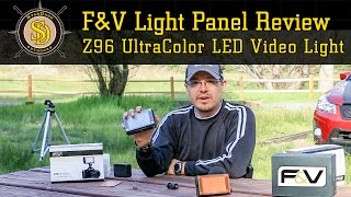 F&V Light - Z96 UltraColor Dimmable LED Video Light Panel - Detailed Review & Test
