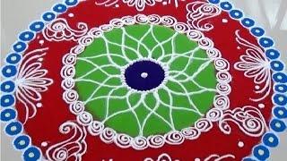 Beautiful And Easy Indian Rangoli Design