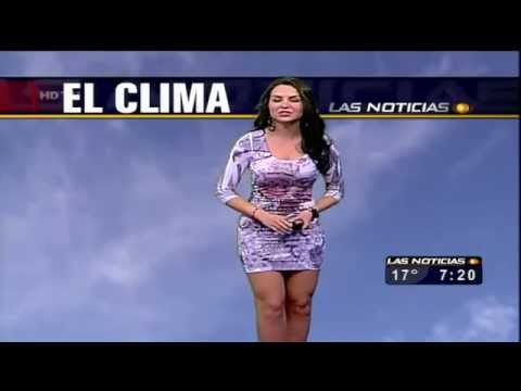 Sexiest Weather Girl Ever! Hot News Anchor Reporter in Mexico