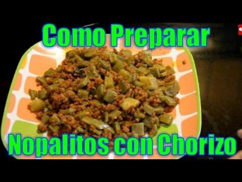 Nopalitos con Chorizo - Recetas en Casayfamiliatv