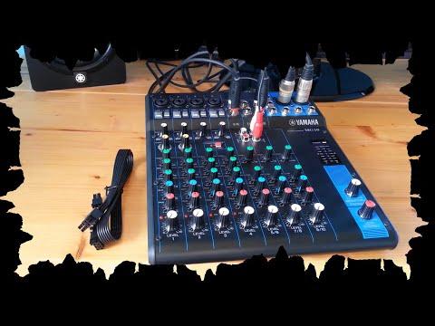 Test 2 Yamaha MG10 & studio monitory HS5