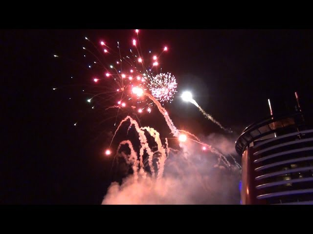 Buccaneer Blast Fireworks Show on the Disney Dream Ship, Disney Cruise Line - Pirate Night