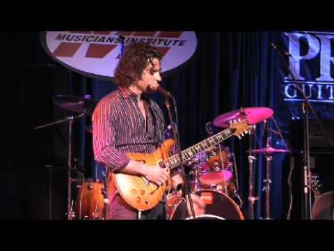 Dweezil Zappa and his signature PRS Guitar at Musician's Institute