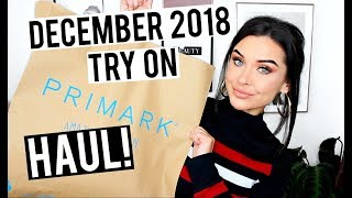 WINTER TRY ON PRIMARK HAUL DECEMBER 2018 | KatesBeautyStation