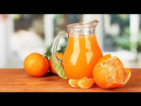 Как сделать сок из мандаринов