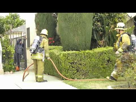 LA County Fire Department-Apartment Fire (22's) -East LA