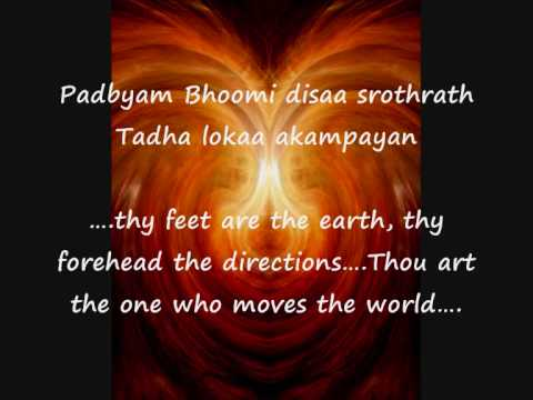 Purusha Suktam - the Source of all - know the essence of  the Vedas