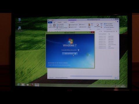 Anleitung: Windows 8 löschen/deinstallieren und Windows 7 installieren - ohne CD Laufwerk [German]