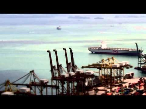 Singapore Port. Part 4. In high speed