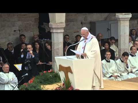 L'omelia di Francesco, pace e custodia del creato