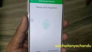 Coolpad Note 5 Lock Apps using Fingerprint