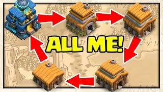 TWO Clan Wars With Myself! 5v5 in Clash of Clans - Just ME!