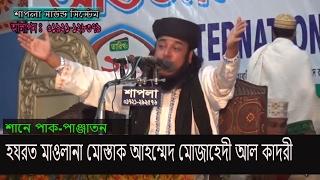 Hazrat Moulana Mostaq Ahmad Mosahedi al-Kaderi Bangla waz 2017  শানে পাক-পাঞ্জাতন