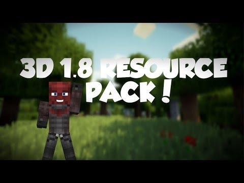 Minecraft: 1.8 3D Textures Resource Pack! Download Link in the Description!