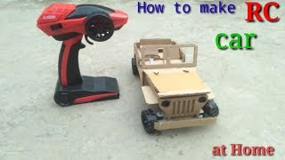 How To Make RC car(jeep)Amazing cardbord car DIY